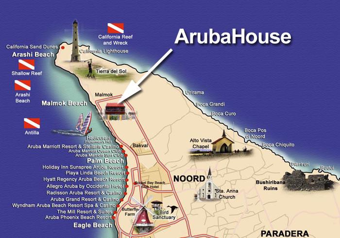ArubaHouse Aruba House Map of Aruba
